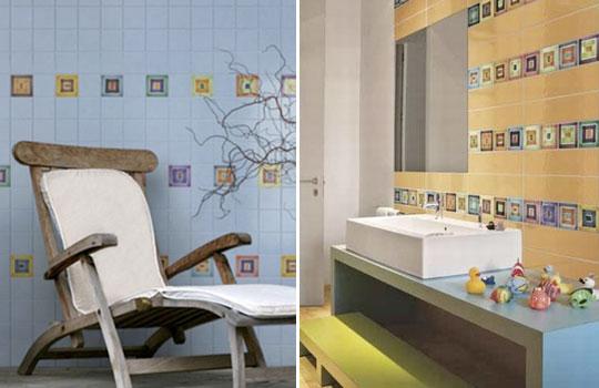 Ceramiche artistiche rivestimenti bagno commerciale edile milano for Composizione piastrelle bagno