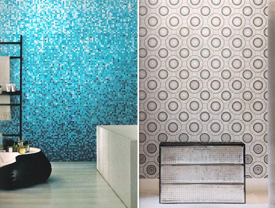 Mosaico ceramico in pasta vetrosa rivestimenti bagno commerciale edile milano - Mosaici da bagno ...