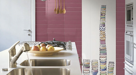 Piastrelle e rivestimenti per la cucina commerciale edile milano for Piastrelle cucina marazzi
